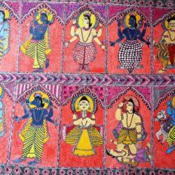 Mithila Painting of Incarnation of Lord Vishnu