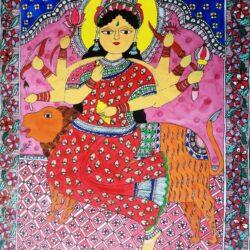 Buy mithila painting of Goddess Durga