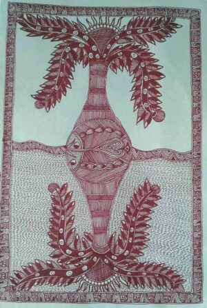 mithila painting greeting card