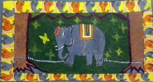 Mithila painting of Elephant