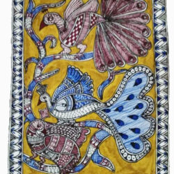 Greeting Card with Mithila Painting of Peacock