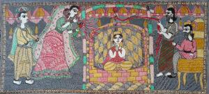 Mithila Painting of Story related to Darbhanga Maharaj