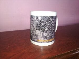 Buy Unique Ceramic Mug with Mithila Painting of Fishes and Tortoise