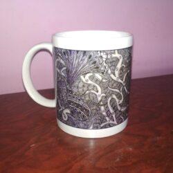 Unique Ceramic Mug Online with Mithila Painting