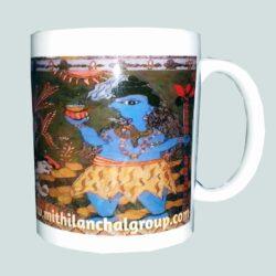 buy unique ceramic mug with mithila painting of ugna vidyapati