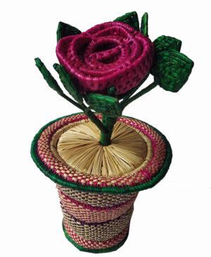 Buy handmade sikki flower vase